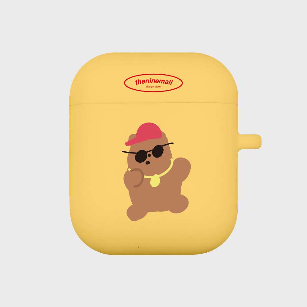 힙합구미 브라운 [airpods jellycase][yellow]