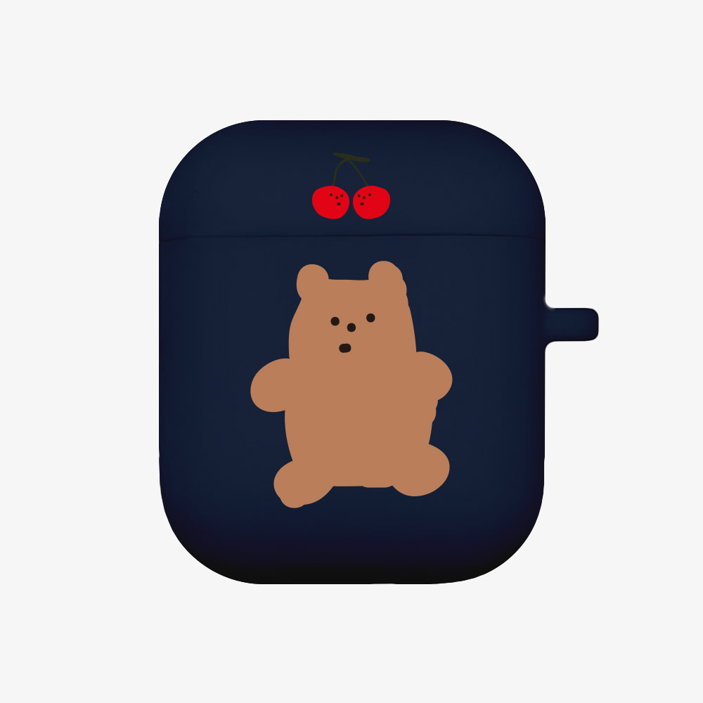cherry gummy [airpods jellycase][navy]