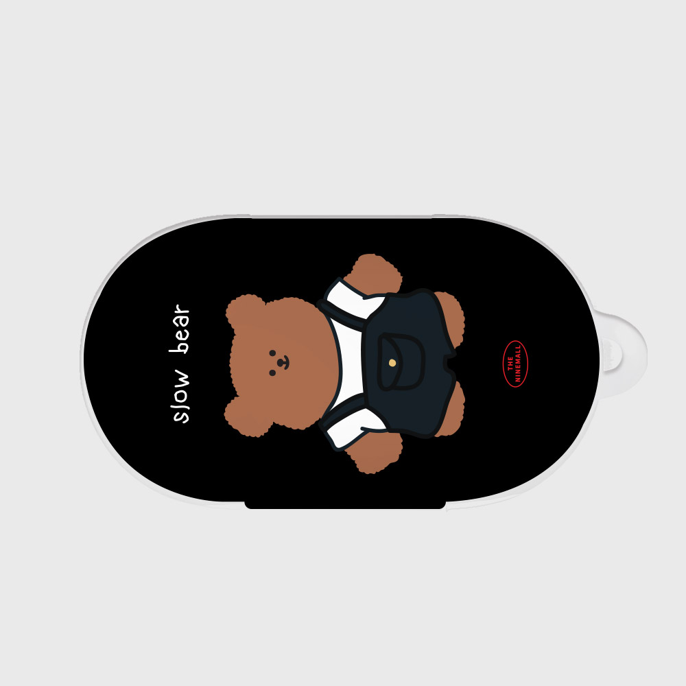overalls slow bear [Buds case]