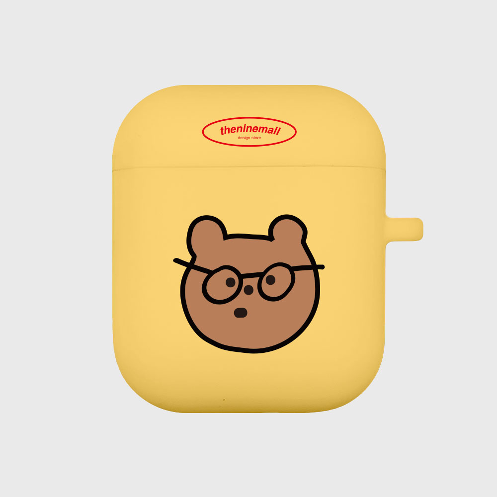 안경 gummy [airpods jellycase][yellow]