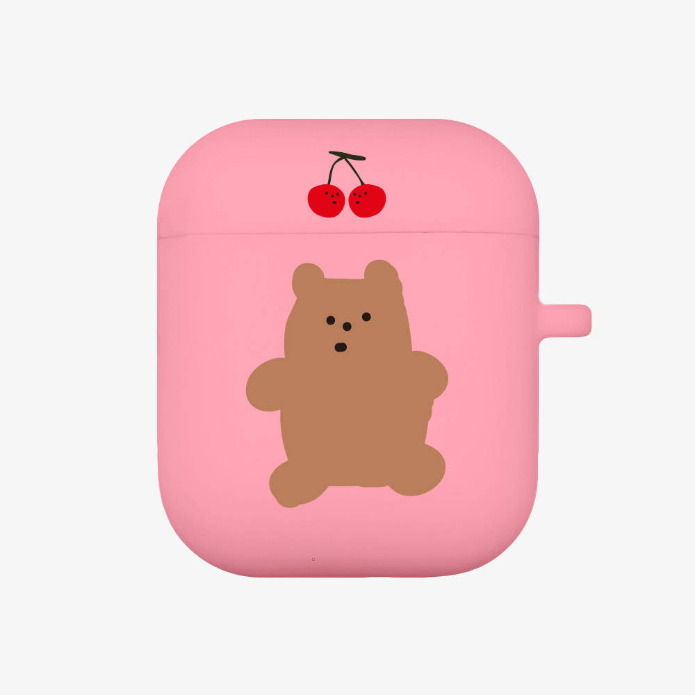cherry gummy [airpods jellycase][pink]
