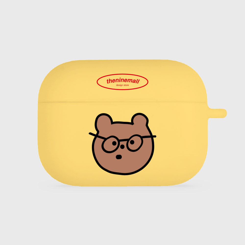 안경 gummy [airpods pro jellycase][yellow]