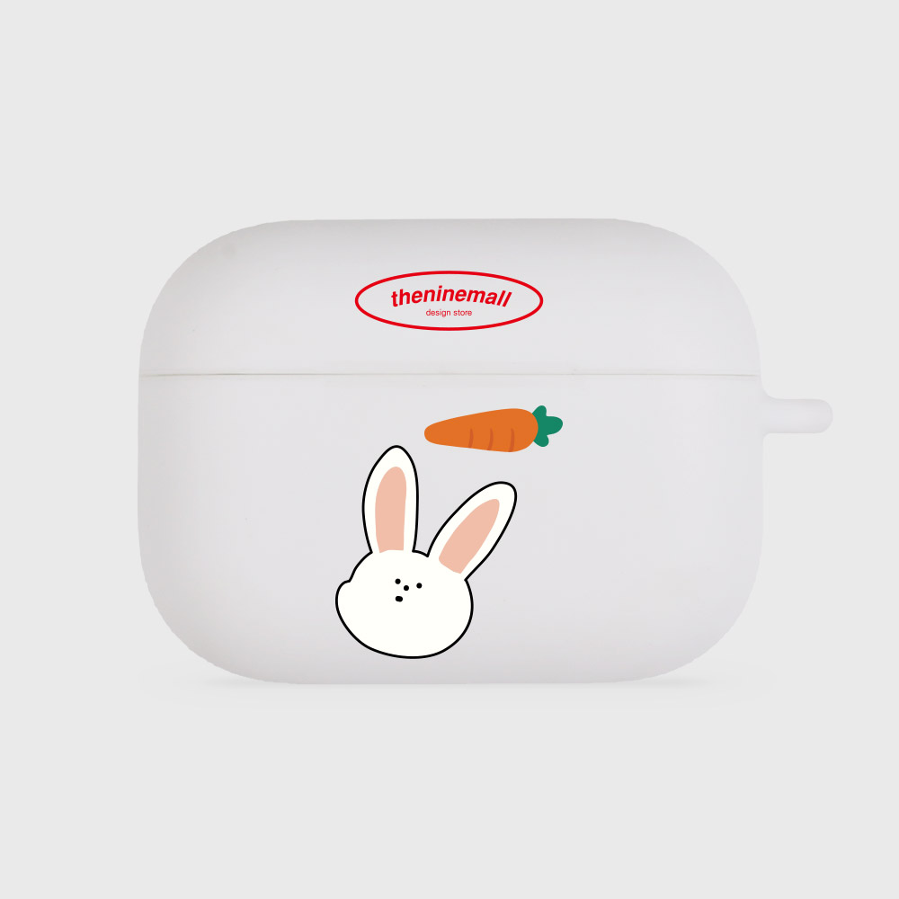 rabbit pattern [airpods pro jellycase][white]