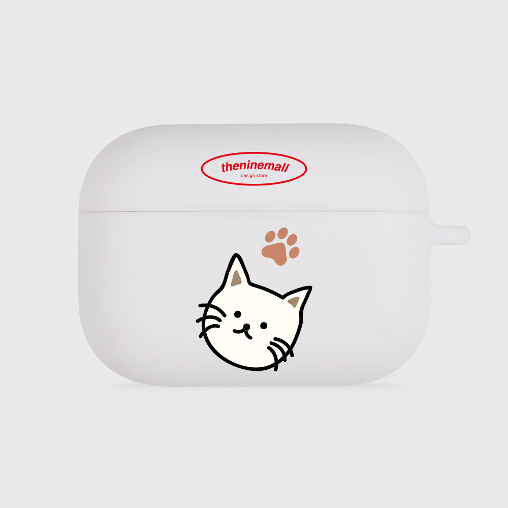 cat [airpods pro jellycase][white]