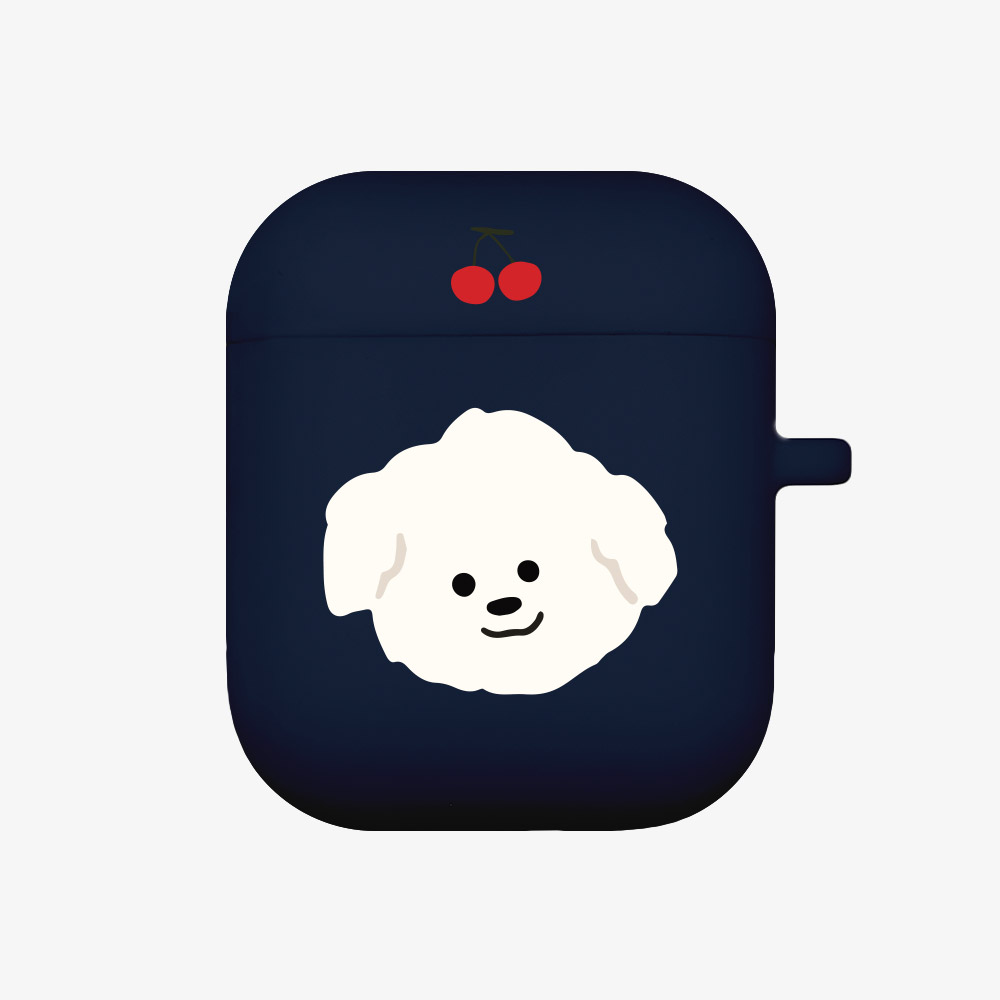 cherry 뽀꾸 [airpods jellycase][navy]