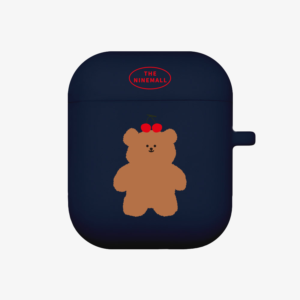 cherry slow bear [Airpods case][navy]