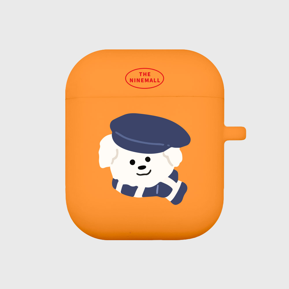 모자 쓴 뽀꾸 [Airpods case][orange]