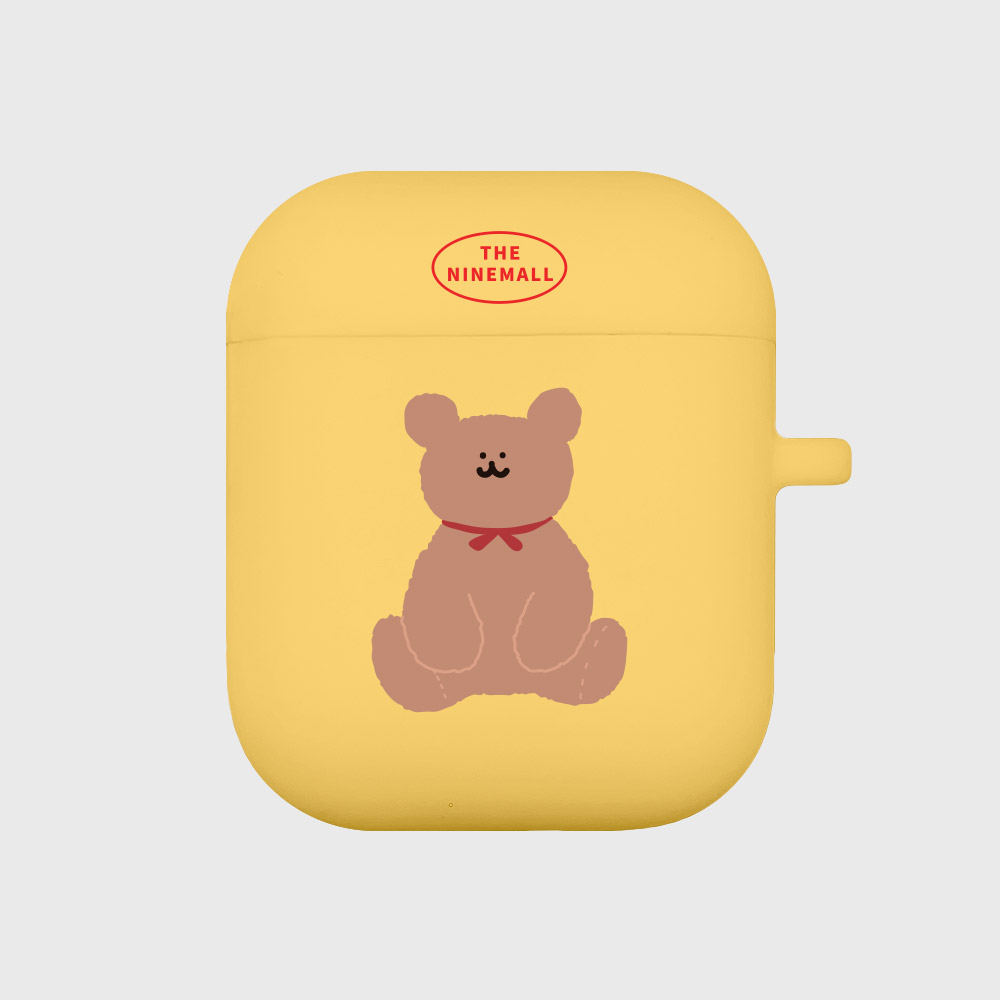 adult bear [Airpods case][yellow]