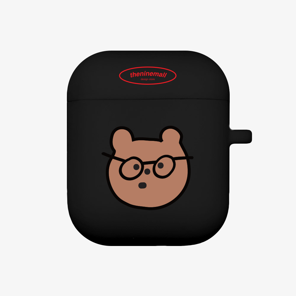 안경gummy [Airpods case][black]