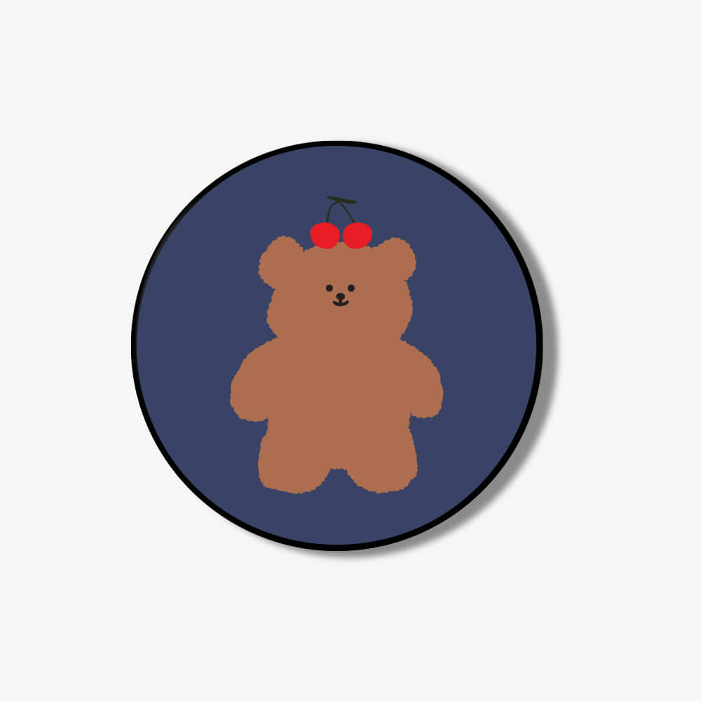 [Smart tok] navy cherry slow bear