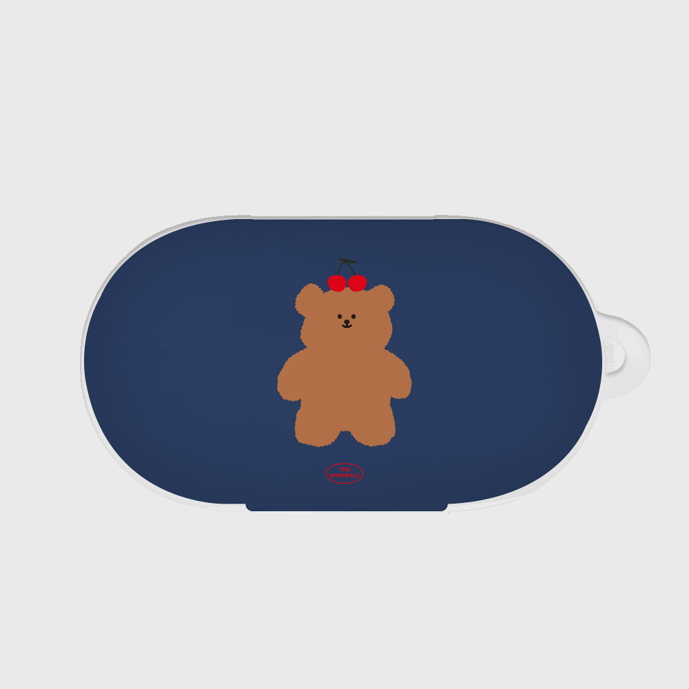 navy cherry slow bear [Buds case]