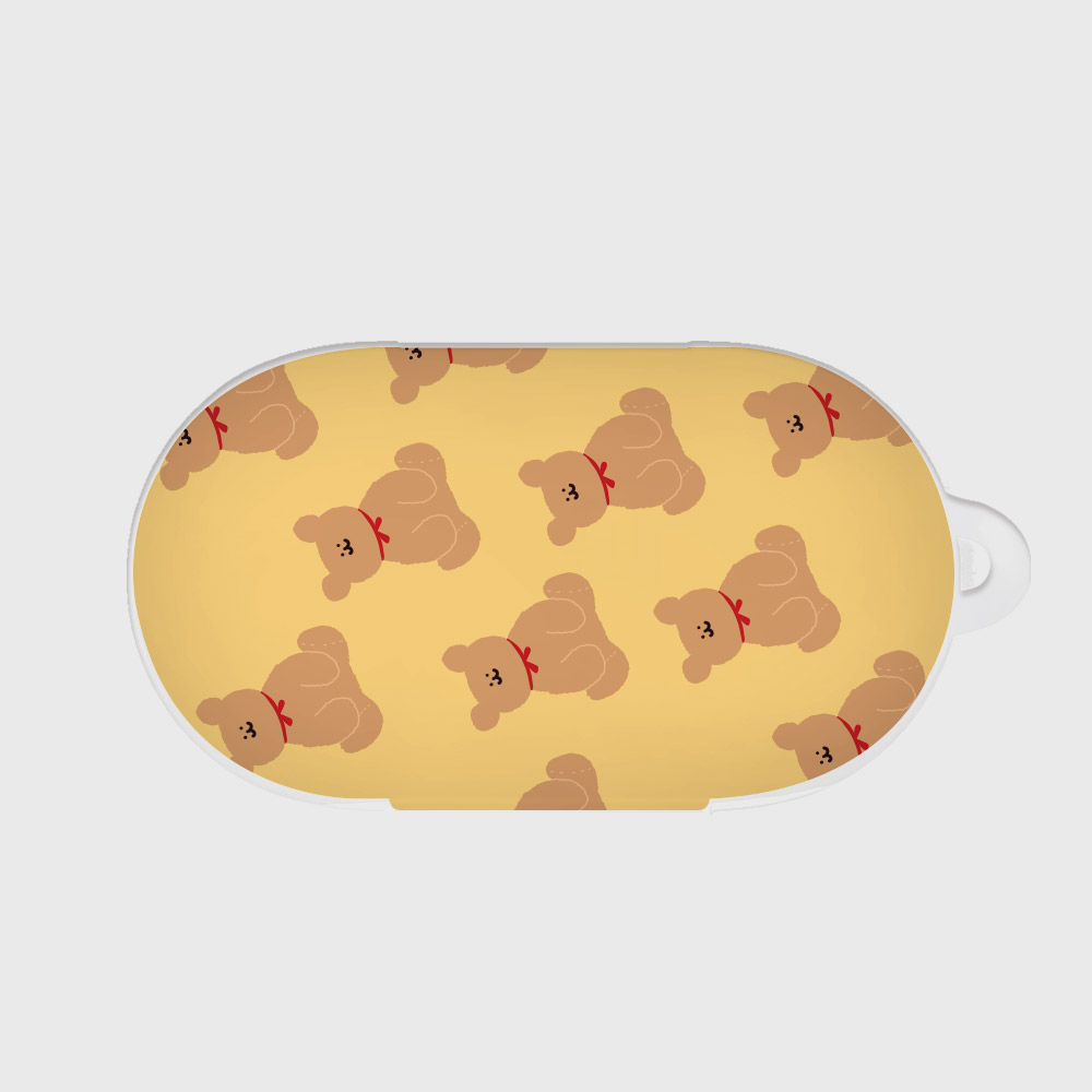 adult bear pattern yellow [Buds case]