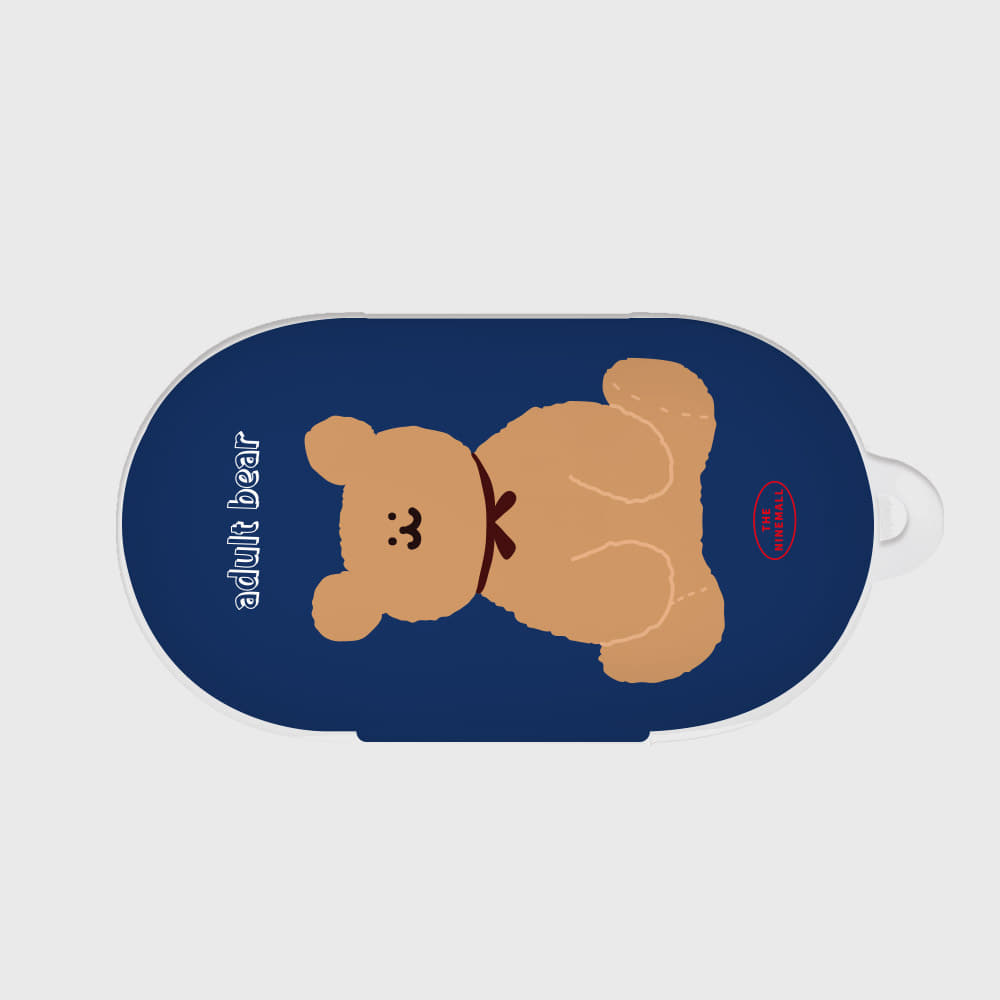 adult bear navy [Buds case]