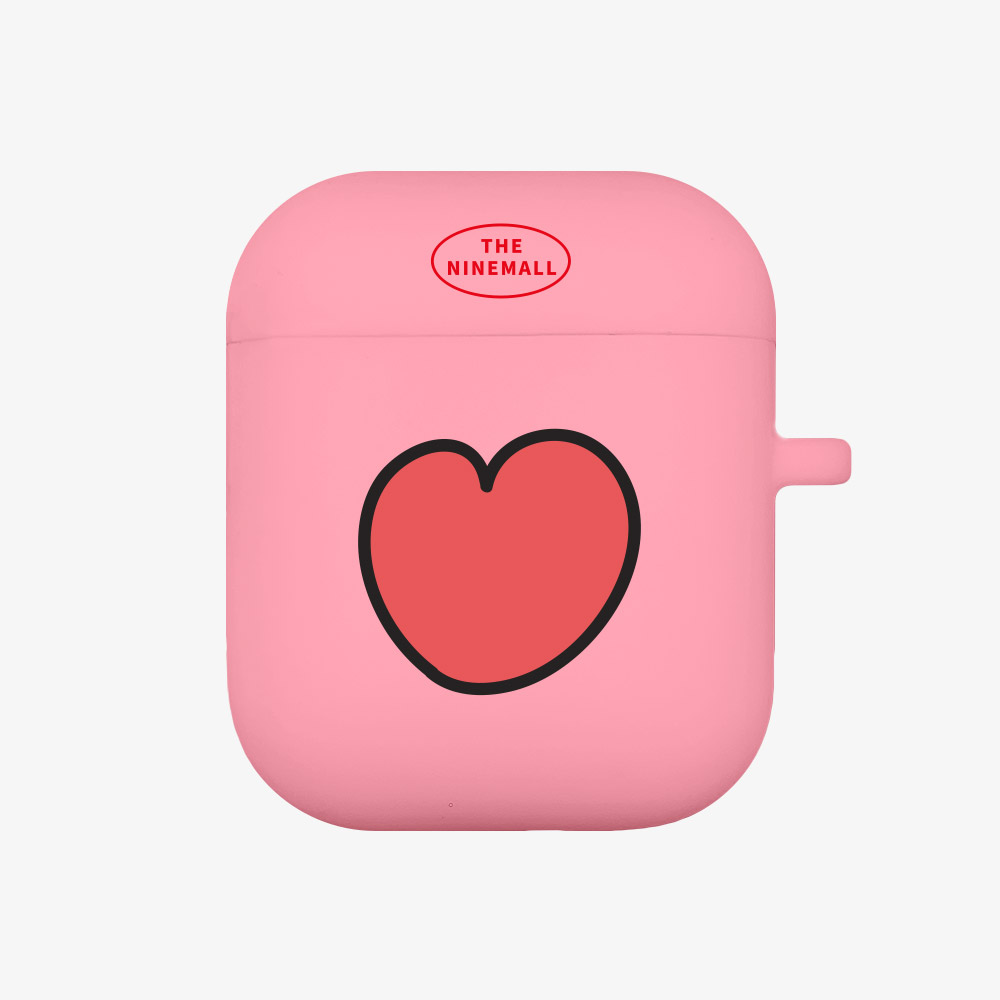 heart pattern [airpods jellycase][pink]
