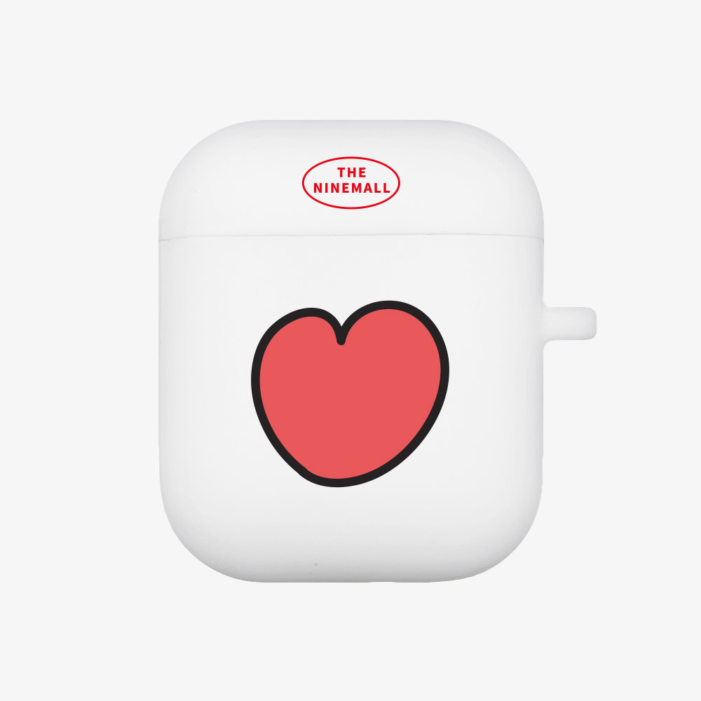 heart pattern [Airpods case][white]