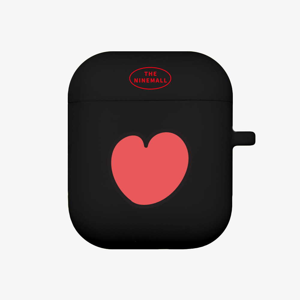 heart pattern [Airpods case][black]