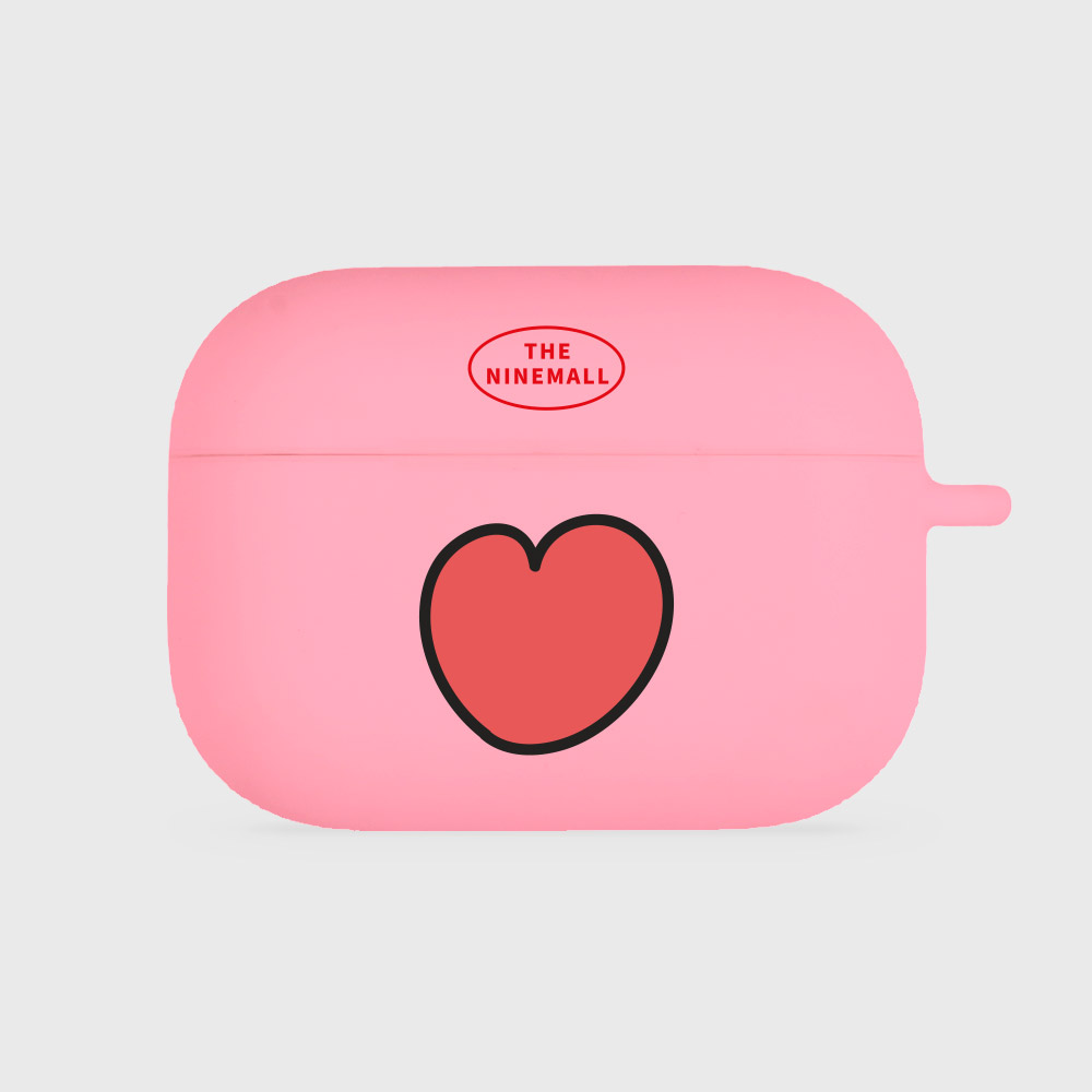 heart pattern [airpods pro jellycase][pink]