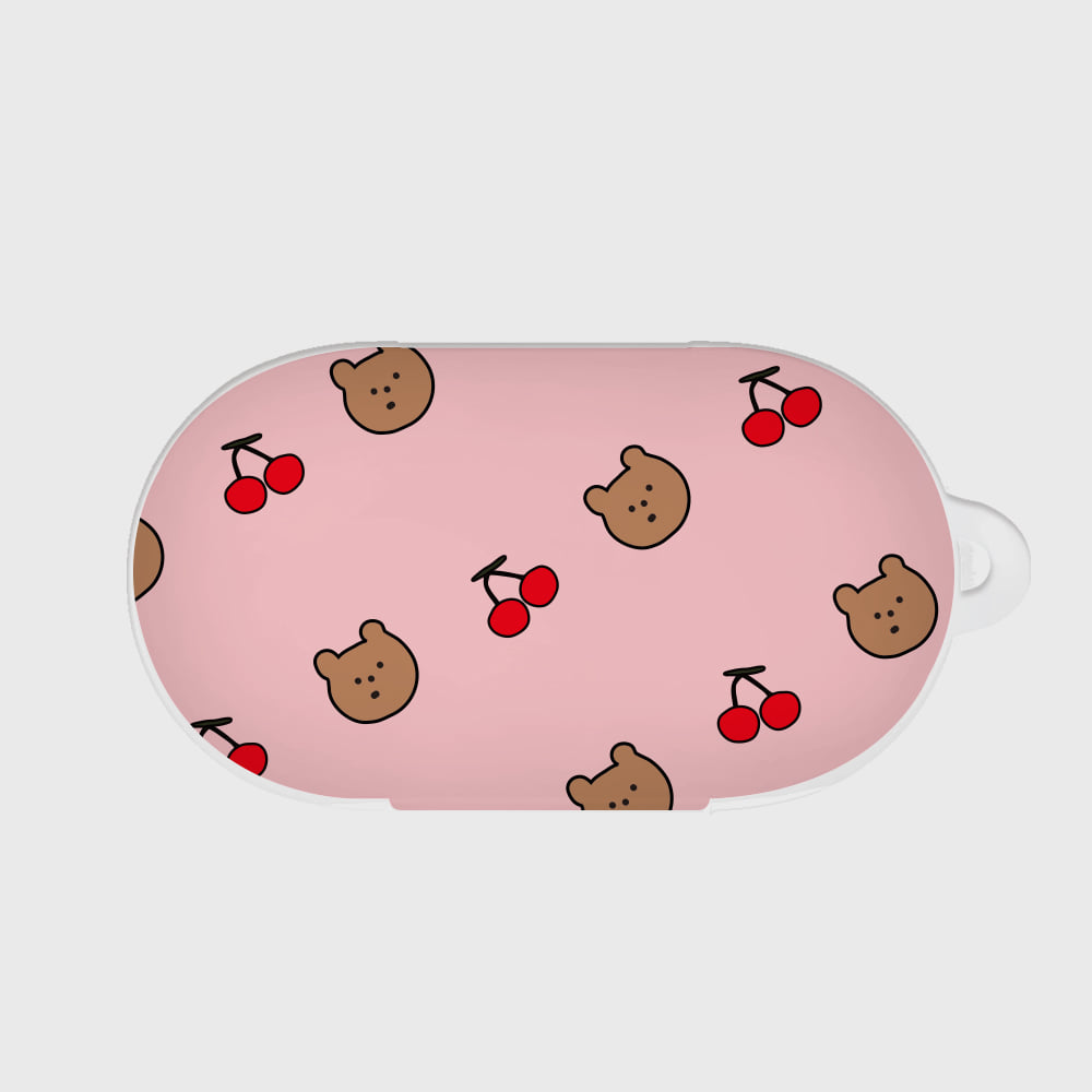 line cherry gummy pattern [Buds case]