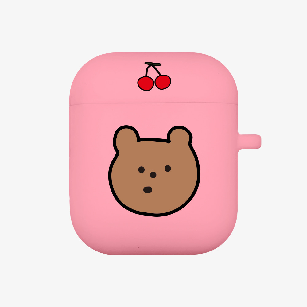 line cherry gummy [airpods jellycase][pink]
