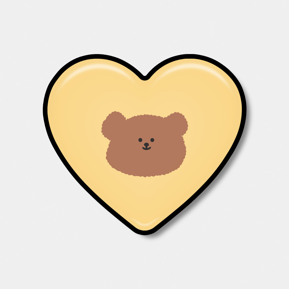[Epoxy heart tok♥] yellow slow bear