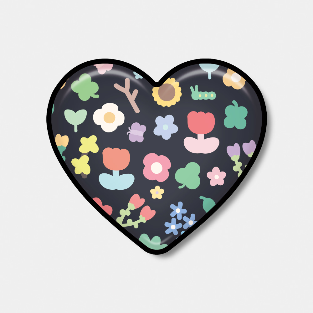 [Epoxy heart tok♥] spring sticker