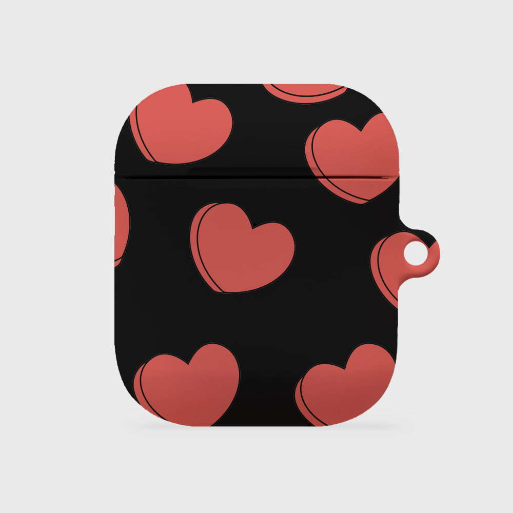 pour down love 블랙 [airpods hardcase]