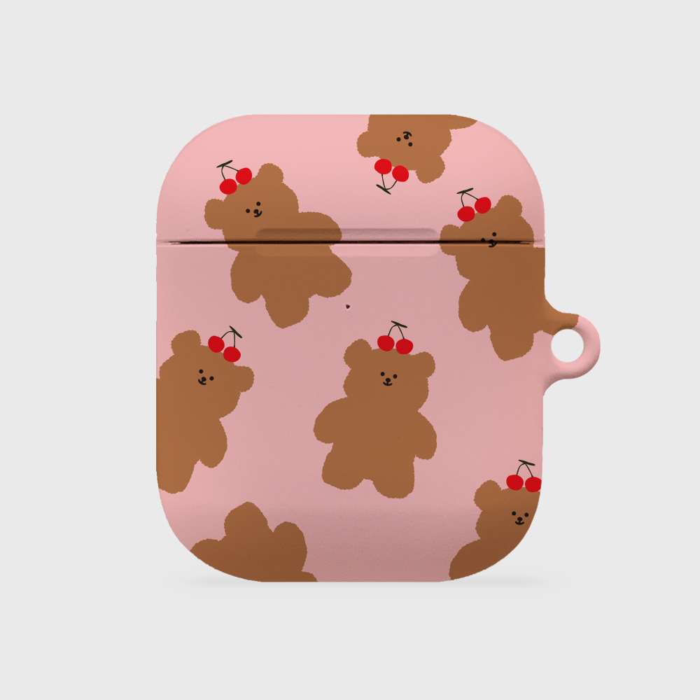 cherry slow bear [airpods hardcase]