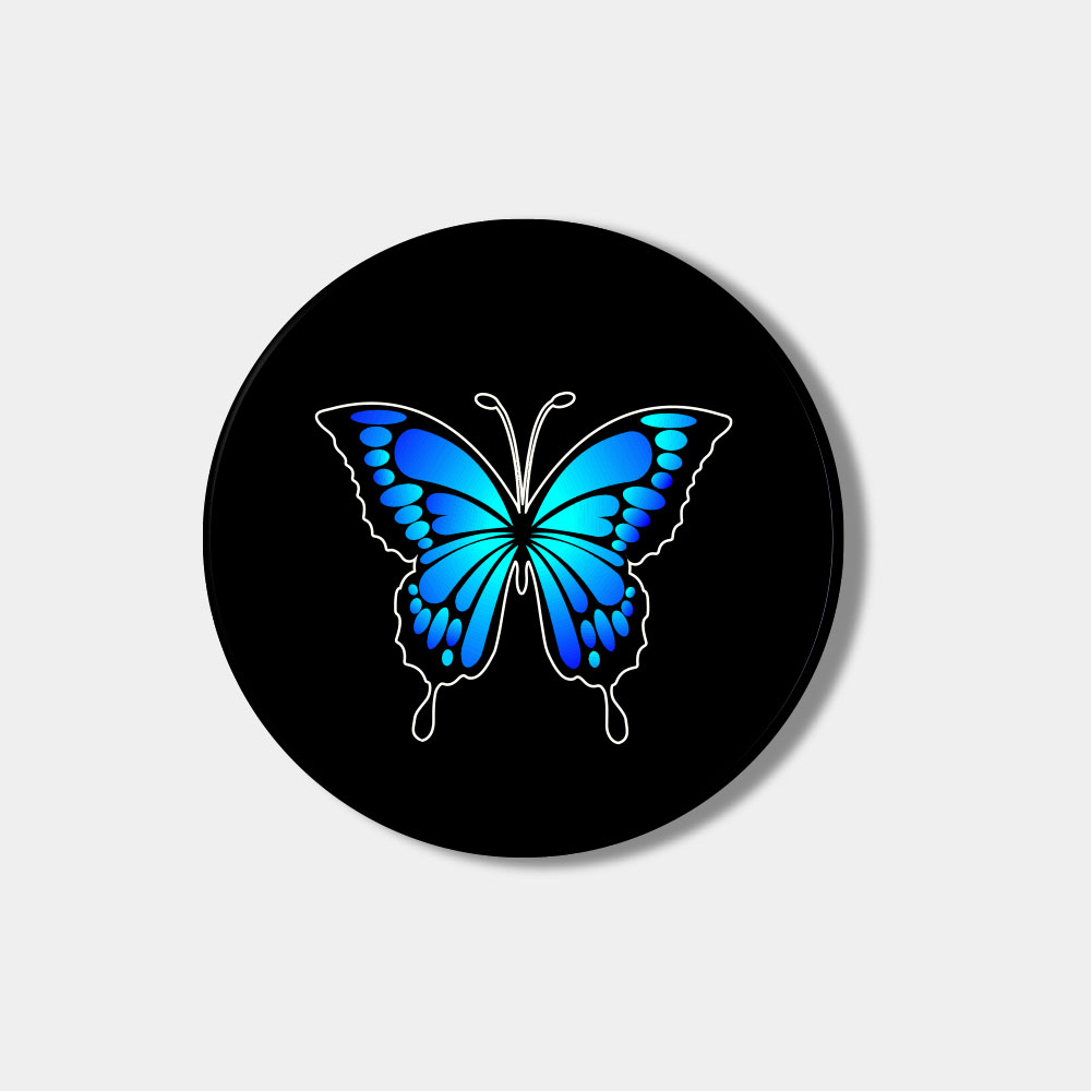 [Smart tok] blue butterfly