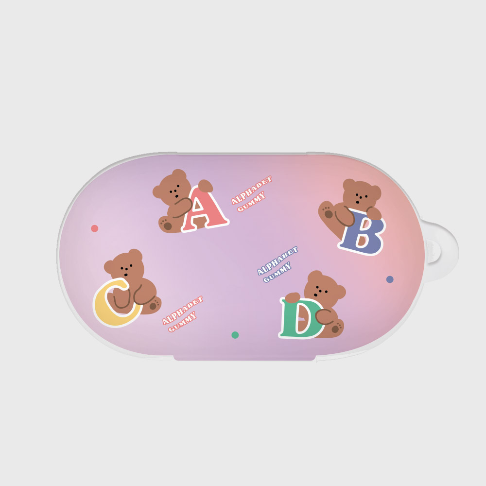 alphabet gummy [Buds case]