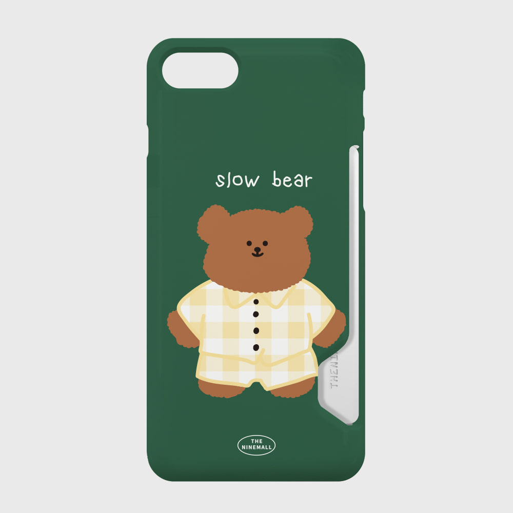 pajamas khaki slow bear 카드수납케이스