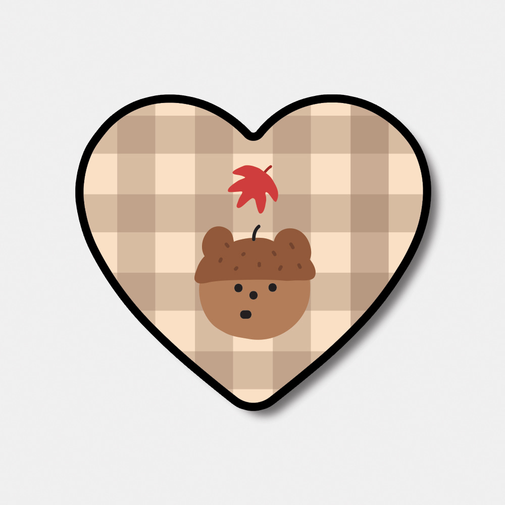 [heart tok♥] pattern acorn gummy