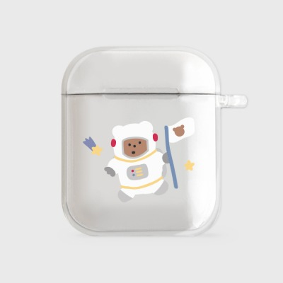 astronaut gummy [airpods clear hardcase]
