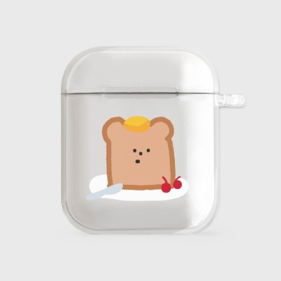 gummy toast [airpods clear hardcase]