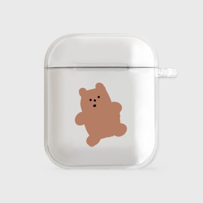 gummy 브라운 [airpods clear hardcase]