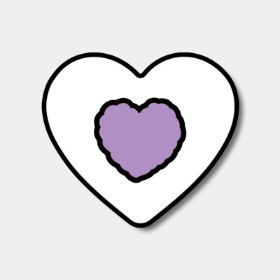 [하트톡♥] lavender heart fluffy